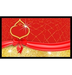 Luxury red festive gift voucher with textured vector
