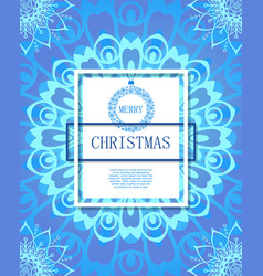 merry christmas on background snow vector image
