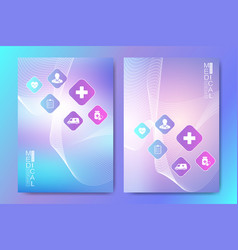 modern health care cover template design for a vector image