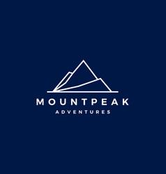 Mount peak mountain logo icon vector