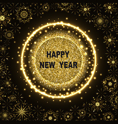 new year glittering background vector image