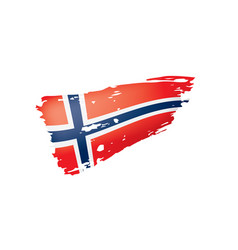 norway flag on a white vector image