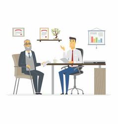 office meeting - modern cartoon business vector image