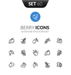 Outline icons set in thin modern style vector