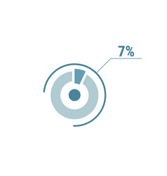 percentage diagram graph 7 seven percent circle vector image