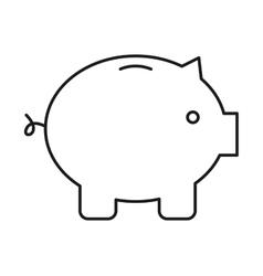 Piggy isolated icon design vector