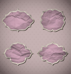 Pink Crumpled Frames vector image
