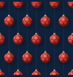 realistic christmas seamless pattern vector image