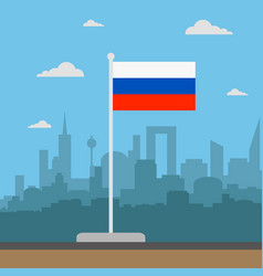 russia flag flat style vector image