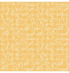seamless kitchen orange pattern vector image