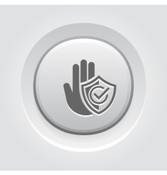 Secured Area Icon Flat Design vector