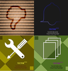 Set of abstract backgrounds with different web vector image