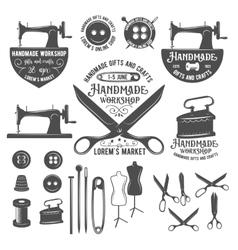 Set of vintage tailor labels badges and design vector