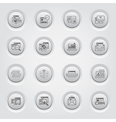 Shopping and Marketing Icons Set Button Design vector image