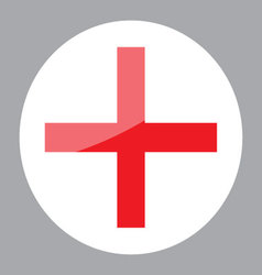 Sign red cross hospital clinic symbol vector image