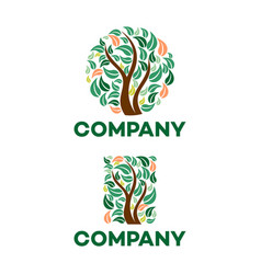 square tree logo vector image