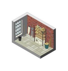 storeroom in isometric view vector image