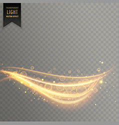 stylish transparent light effect in curvy style vector image