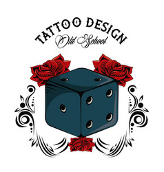 Tattoo studio design vector