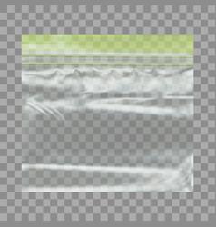 Transparent blank plastic pocket bag with ziplock vector