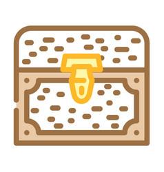 Treasure chest color icon vector