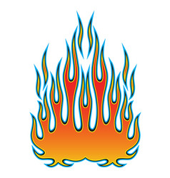 Tribal hotrod muscle car flame kit for car hoods vector