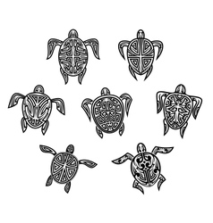 Tribal turtles tattoos vector image