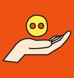 Unusual look web icon of modern social network vector
