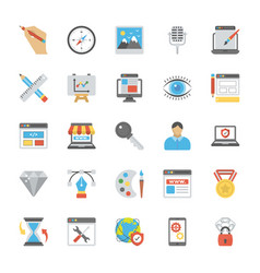 Web design flat icons vector