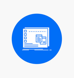 Window mac operational os program white glyph vector