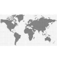 world map halftone dots background eps 10 vector image
