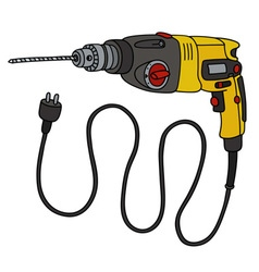 Yellow impact drill vector image