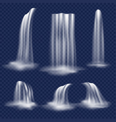 realistic waterfall set vector image