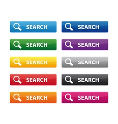 Search buttons vector image vector image