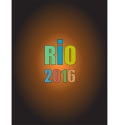 Sign symbol Rio olympics games 2016 in colors of vector image vector image