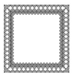 Stylish black frame vector image