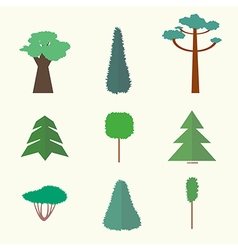 trees icons2vs vector image vector image