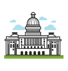 white house usa america travel landmarks and vector image vector image