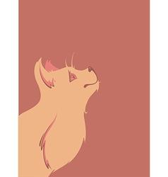 Cat background vector