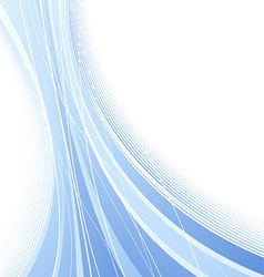 Certificate with blue abstract waves vector image vector image