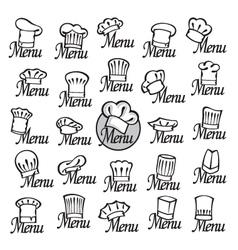 chef hats set vector image vector image