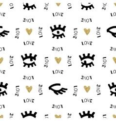 Creative seamless pattern Sketch eyes hand-drawn vector image