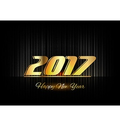 Gold New Year 2017 Luxury Symbol vector image vector image
