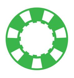 green casino poker chip vector image