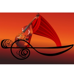 musical abstraction vector image vector image