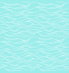seamless pattern with blue sea waves vector image