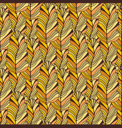autumn seamless pattern in yellow and orange vector image