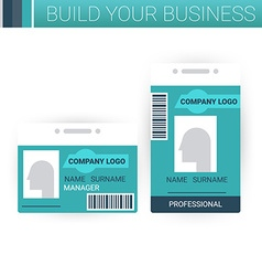 Business badge template design vector image