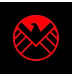 Eagle logo emblem flat style vector image