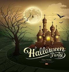 Happy Halloween party castles vector image vector image